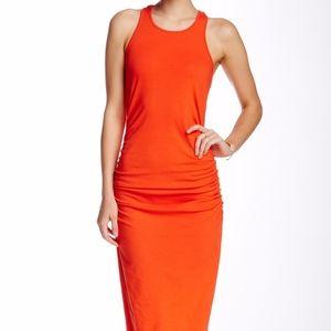 michael stars | orange racerback midi dress sz XS